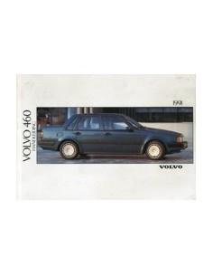 1991 VOLVO 460 OWNERS MANUAL HANDBOOK DUTCH
