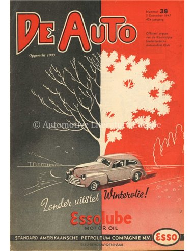 1947 DE AUTO MAGAZINE 38 DUTCH