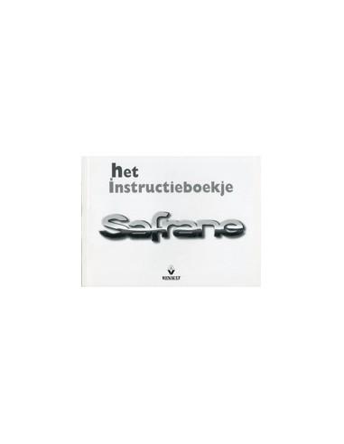 1999 RENAULT SAFRANE INSTRUCTIEBOEKJE NEDERLANDS
