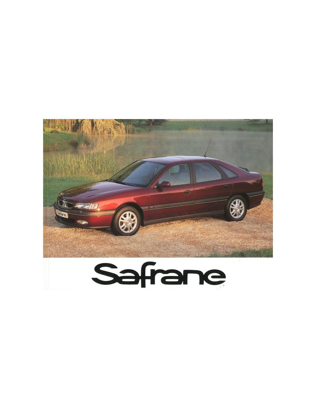 1996 Renault Safrane Owners Manual Dutch