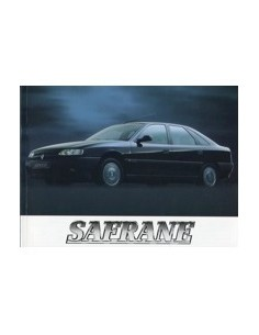 1995 RENAULT SAFRANE OWNERS MANUAL HANDBOOK DUTCH