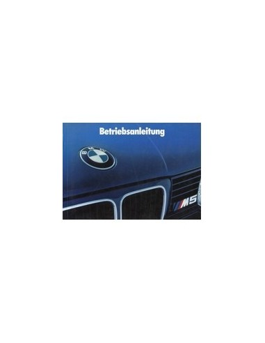 1990 BMW 5 SERIE M5 INSTRUCTIEBOEKJE DUITS