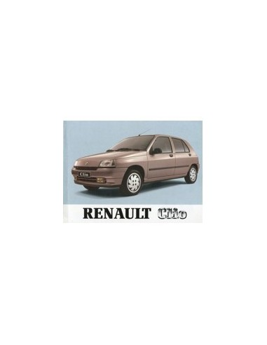 1990 RENAULT CLIO INSTRUCTIEBOEKJE NEDERLANDS