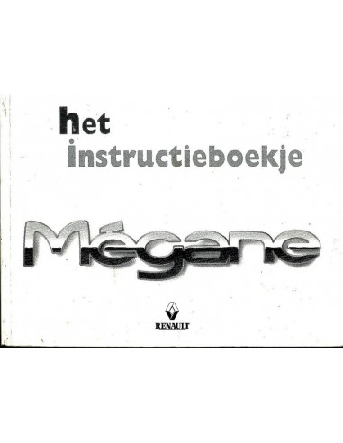 1998 RENAULT MEGANE INSTRUCTIEBOEKJE NEDERLANDS