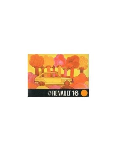 1975 RENAULT 16 INSTRUCTIEBOEKJE NEDERLANDS