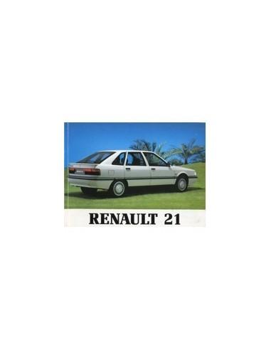 1990 RENAULT 21 INSTRUCTIEBOEKJE NEDERLANDS