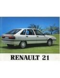 1991 RENAULT 21 INSTRUCTIEBOEKJE NEDERLANDS