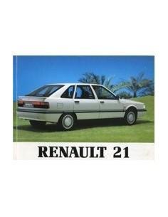 1991 RENAULT 21 OWNERS MANUAL HANDBOOK DUTCH