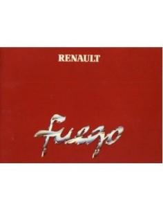 1980 RENAULT FUEGO INSTRUCTIEBOEKJE NEDERLANDS