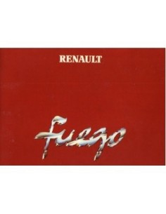 1980 RENAULT FUEGO OWNERS MANUAL HANDBOOK DUTCH