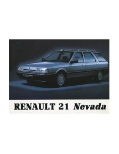 1989 RENAULT 21 NEVADA OWNERS MANUAL HANDBOOK DUTCH