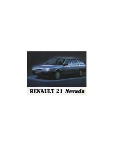 1989 RENAULT 21 NEVADA INSTRUCTIEBOEKJE NEDERLANDS