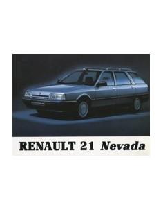 1991 RENAULT 21 NEVADA OWNERS MANUAL HANDBOOK DUTCH