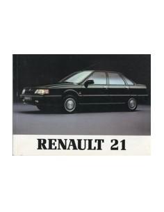 1990 RENAULT 21 SALOON OWNERS MANUAL HANDBOOK DUTCH