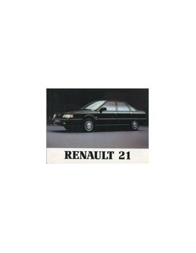 1989 RENAULT 21 SEDAN INSTRUCTIEBOEKJE FRANS