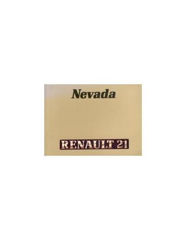 1987 RENAULT 21 NEVADA INSTRUCTIEBOEKJE NEDERLANDS