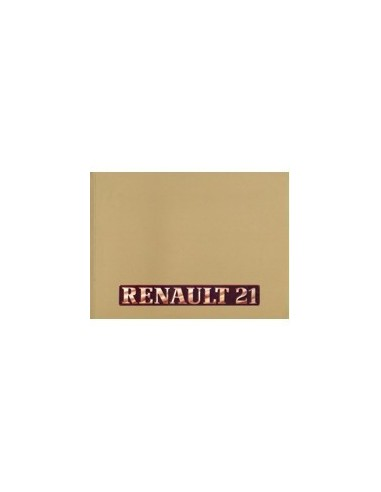 1988 RENAULT 21 INSTRUCTIEBOEKJE NEDERLANDS