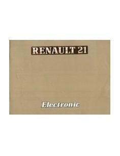 1986 RENAULT 21 ELECTRONIC INSTRUCTIEBOEKJE NEDERLANDS