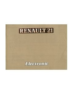 1986 RENAULT 21 ELECTRONIC INSTRUCTIEBOEKJE NEDERLANDS