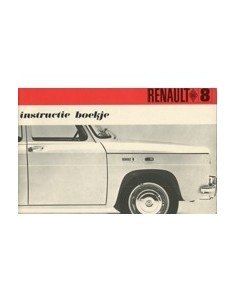 1968 RENAULT 8 INSTRUCTIEBOEKJE NEDERLANDS