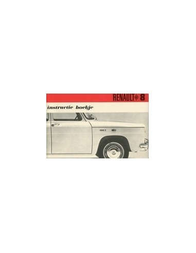 1968 renault 8 owners manual handbook dutch automotive literature rh autolit eu Renault R9 Renault R2