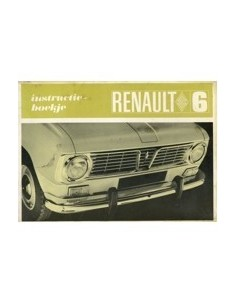 1968 RENAULT 6 INSTRUCTIEBOEKJE NEDERLANDS