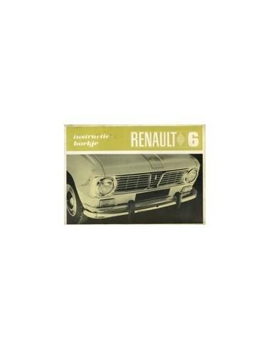 1968 RENAULT 6 INSTRUCTIEBOEKJE NEDERLANDS