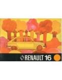 1974 RENAULT 16 INSTRUCTIEBOEKJE NEDERLANDS