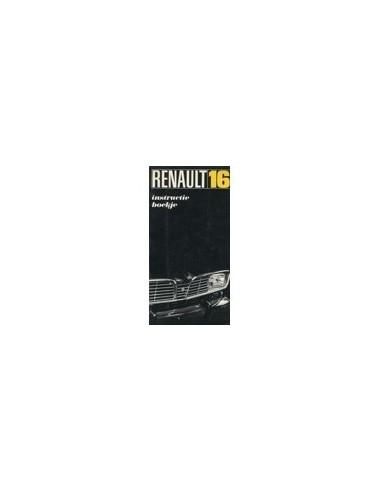 1968 RENAULT 16 INSTRUCTIEBOEKJE NEDERLANDS