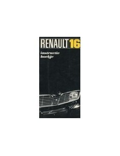 1969 RENAULT 16 OWNERS MANUAL HANDBOOK DUTCH