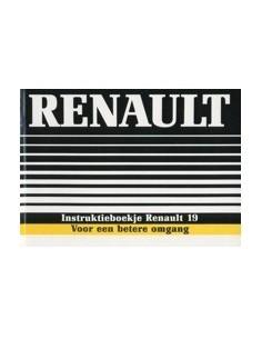 1988 RENAULT 19 INSTRUCTIEBOEKJE NEDERLANDS