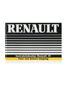 1988 RENAULT 19 INSTRUCTIEBOEKJE NEDERLANDS