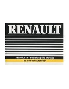 1988 RENAULT 19 OWNERS MANUAL HANDBOOK GERMAN
