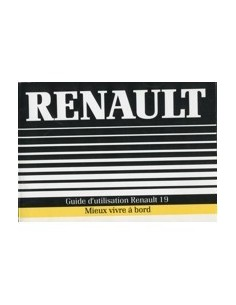 1989 RENAULT 19 OWNERS MANUAL HANDBOOK FRENCH