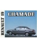 1989 RENAULT 19 CHAMADE INSTRUCTIEBOEKJE NEDERLANDS