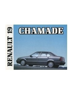 1989 RENAULT 19 CHAMADE OWNERS MANUAL HANDBOOK DUTCH