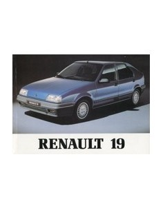 1990 RENAULT 19 INSTRUCTIEBOEKJE NEDERLANDS