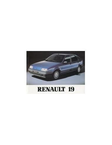 1990 RENAULT 19 INSTRUCTIEBOEKJE NEDERLANDS