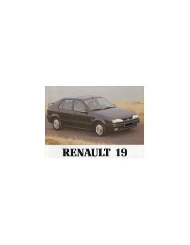 1992 RENAULT 19 INSTRUCTIEBOEKJE NEDERLANDS