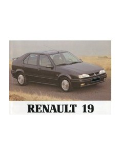 1992 RENAULT 19 INSTRUCTIEBOEKJE NEDERLANDS