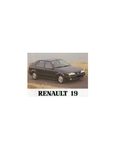 1993 RENAULT 19 INSTRUCTIEBOEKJE NEDERLANDS