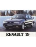 1992 RENAULT 19 CHAMADE INSTRUCTIEBOEKJE NEDERLANDS