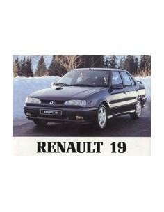 1992 RENAULT 19 CHAMADE OWNERS MANUAL HANDBOOK DUTCH