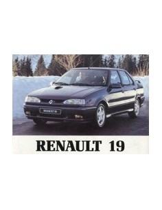 1994 RENAULT 19 CHAMADE OWNERS MANUAL HANDBOOK DUTCH