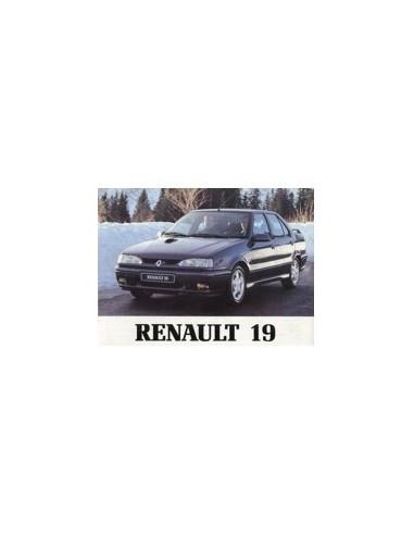 1993 RENAULT 19 CHAMADE INSTRUCTIEBOEKJE DUITS