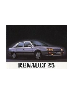 1990 RENAULT 25 INSTRUCTIEBOEKJE NEDERLANDS