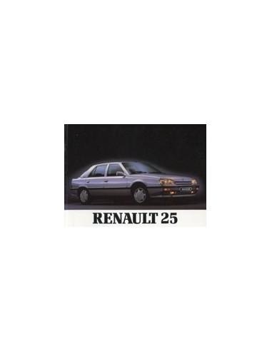 1988 RENAULT 25 INSTRUCTIEBOEKJE NEDERLANDS