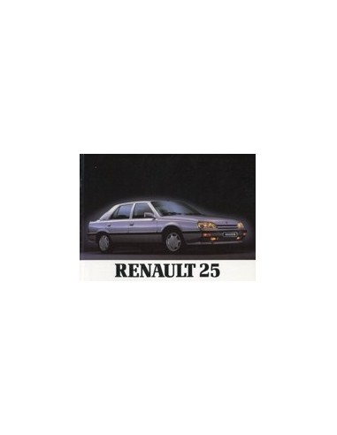 1988 RENAULT 25 INSTRUCTIEBOEKJE NEDERLANDS