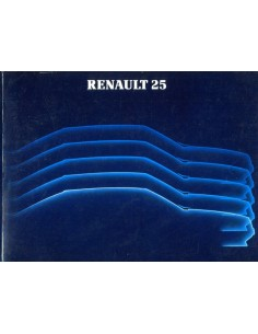 1985 RENAULT 25 OWNERS MANUAL HANDBOOK DUTCH