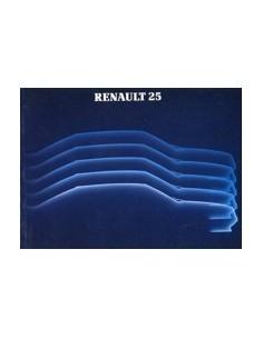 1983 RENAULT 25 INSTRUCTIEBOEKJE FRANS